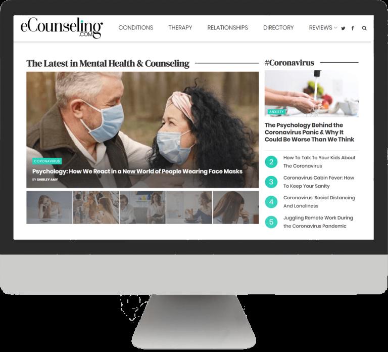 E-counseling Website screenshot