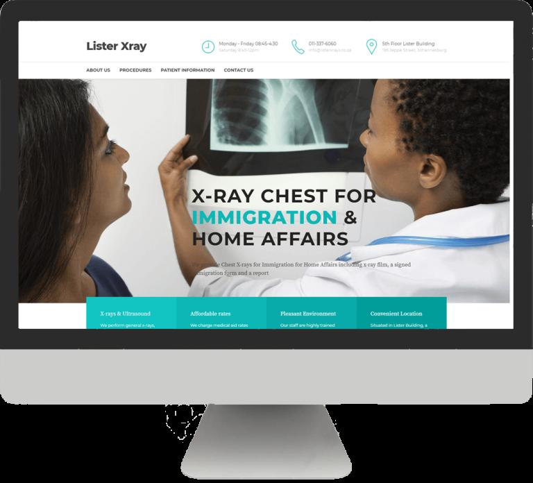 Lister Xray Website screenshot